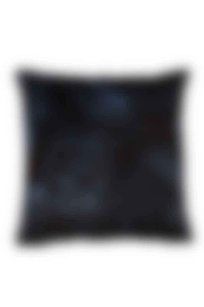 AU Maison 45 x 45cm Indigo Blue Cushion with Tropical Design