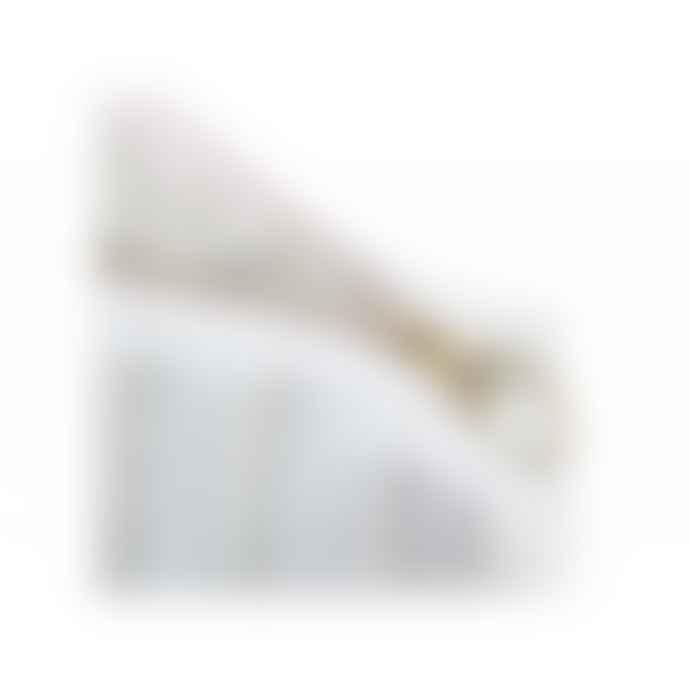 Nobodinoz 18 x 25cm White Bubble and Aqua Organic Cotton Travel Toiletry Bag