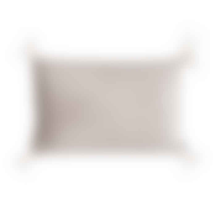 Eightmood 40 x 60cm Light Grey Cushion with Feather Tassels