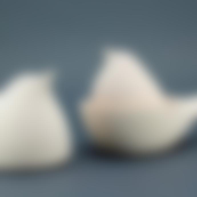 casa atlantica Small Matte Ceramic Dove Jewelry Box