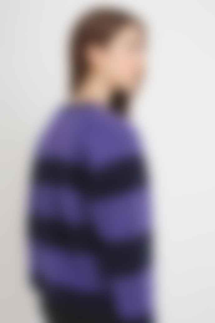 Stella Nova Lykke Knited Jumper In Purple And Navy