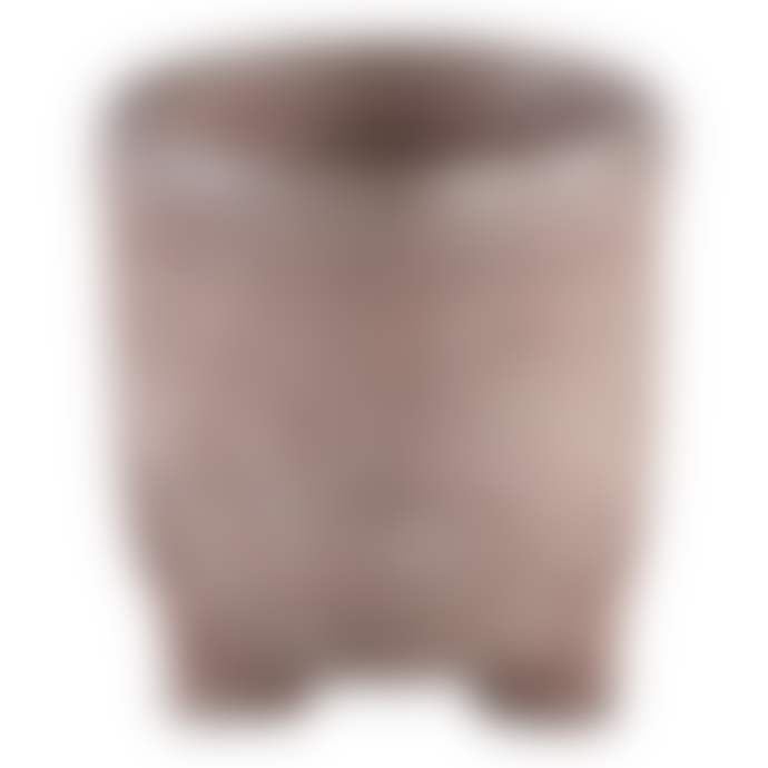 PTMD Bronze coloured ceramic plant pot on three feet