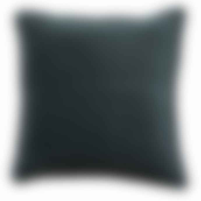 Large Olive Green Velvet Cushion with feather inner