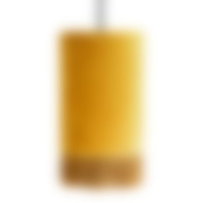 Madam Stoltz Velvet Ceiling Lamp Mustard