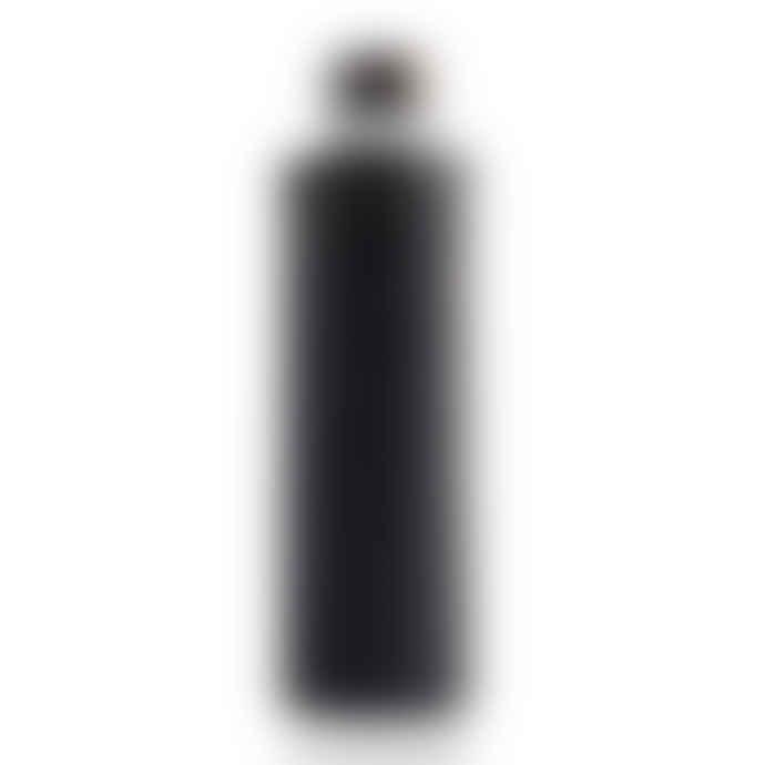 Equa Bottle Tough Glass 750ml Mismatch Graphite Faux Leather Cover