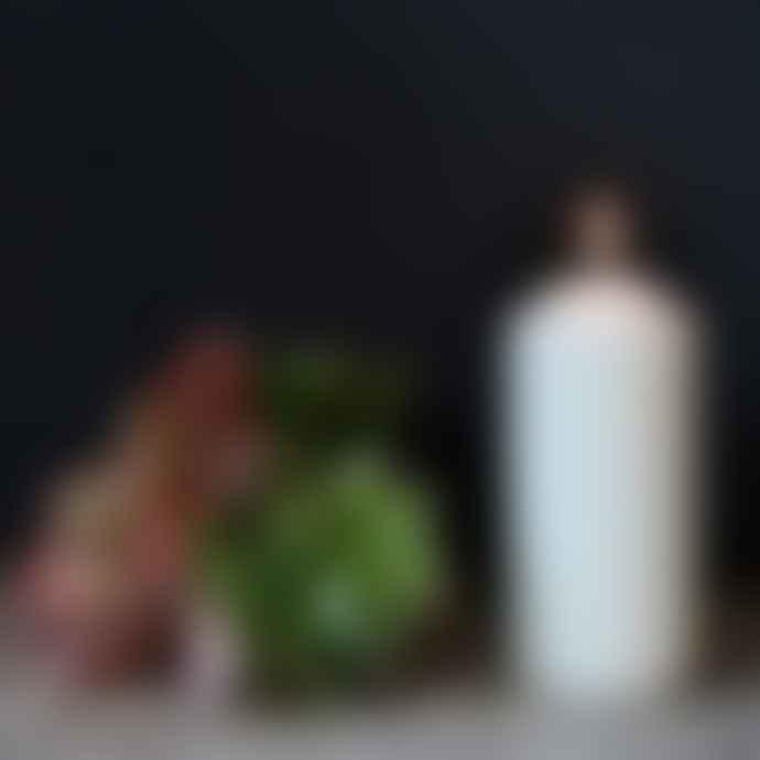 livs 16 x 7cm Off White Overdipped Church Pillar Candle