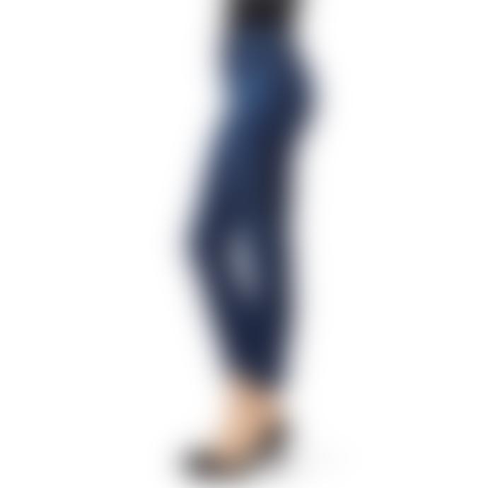 J Brand Alana High Rise Crop Skinny Denim Jeans in Arcade Wash