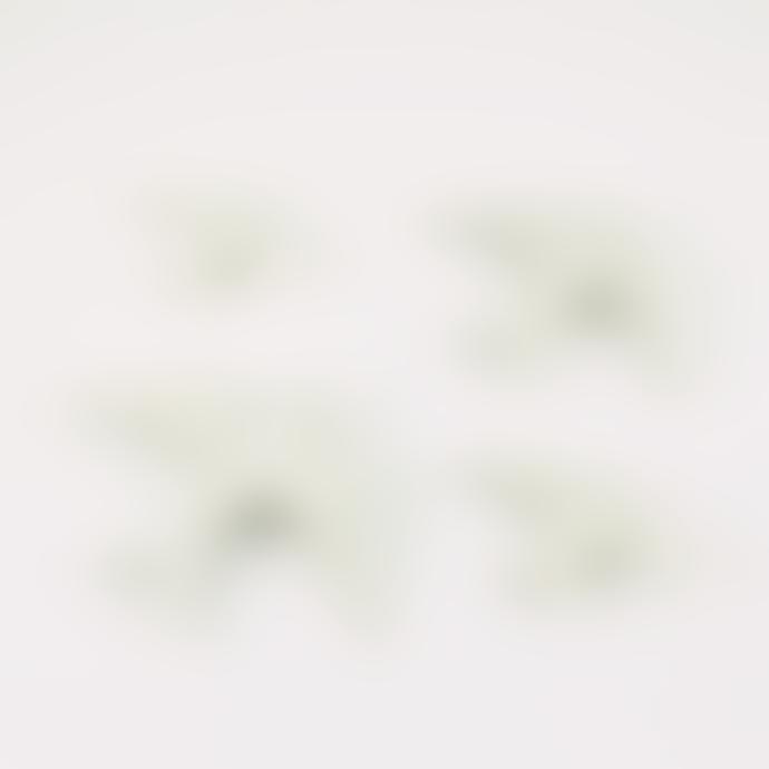 casa atlantica Set of 4 White Ceramic Glazed Swallows