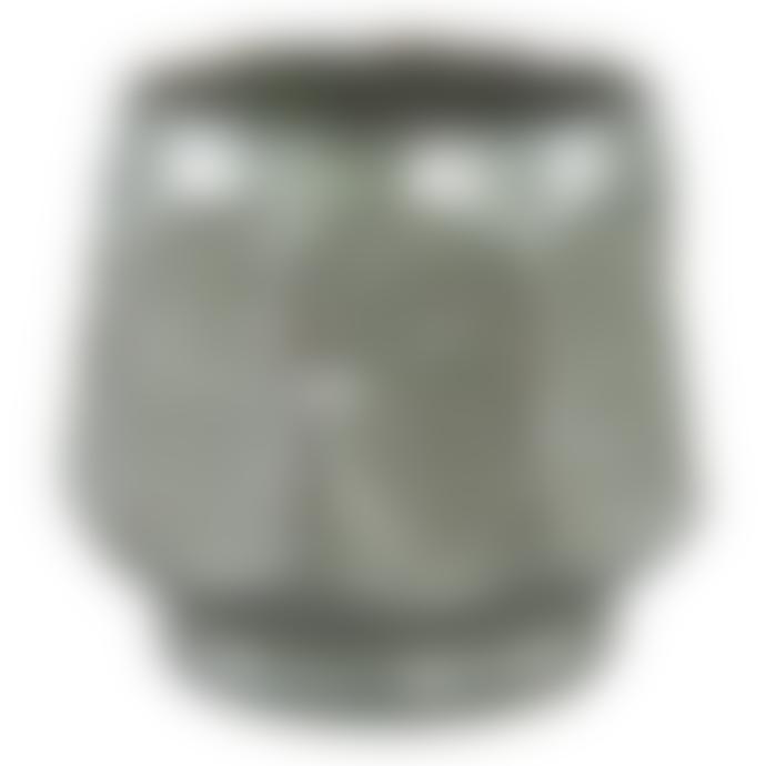 PTMD Hand Glazed Green Ceramic Small Plant Pot
