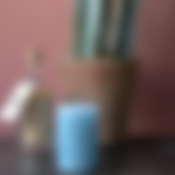 Cozy Living 7 x 10cm Winter Blue Rustic Pillar Candle