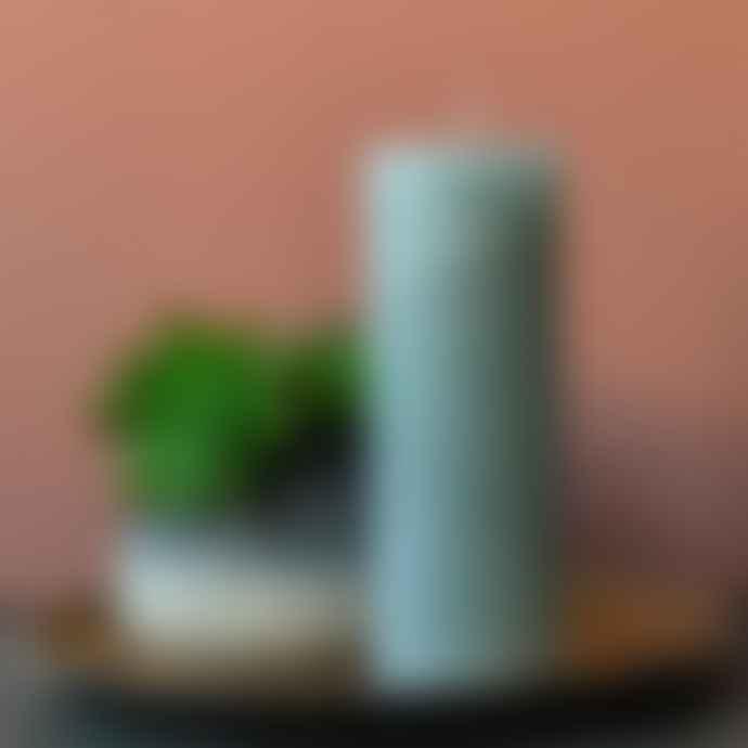 livs 7x20cm Rustic Moss Pillar Candle