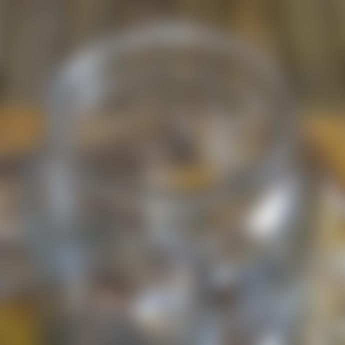 livs 23x19cm Squat Glass Jar Vase