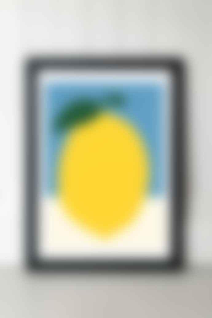 East End Prints  A2 Yellow Lemon Print with Frame