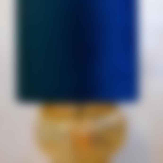 Light & Living 18 x 16cm Petrol Blue Velvet Hanging Pendant