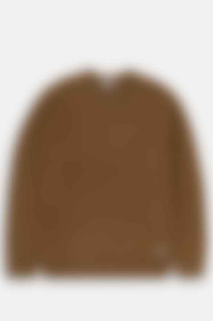 Carhartt Anglistic Sweater In Hamilton Brown Heather