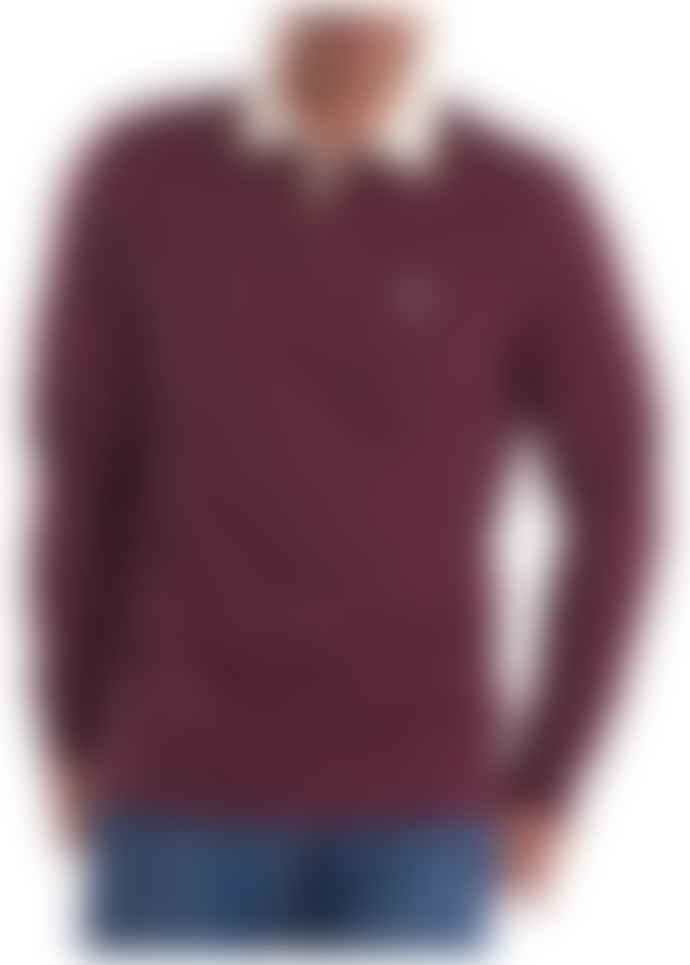 Barbour Merlot Cotton Shield Rugby Top