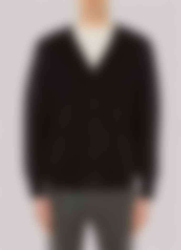 Sunspel Merino College Cardigan Off White