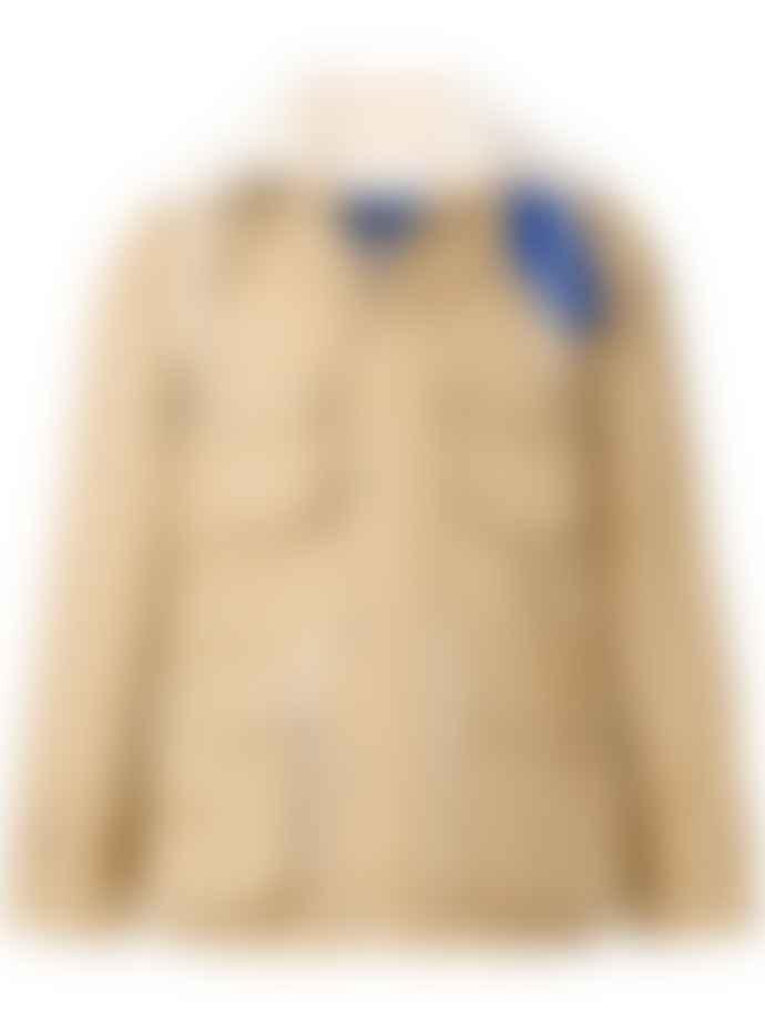 Maison Kitsune Wool Cotton Blend 2 In 1 Cargo Jacket Beige