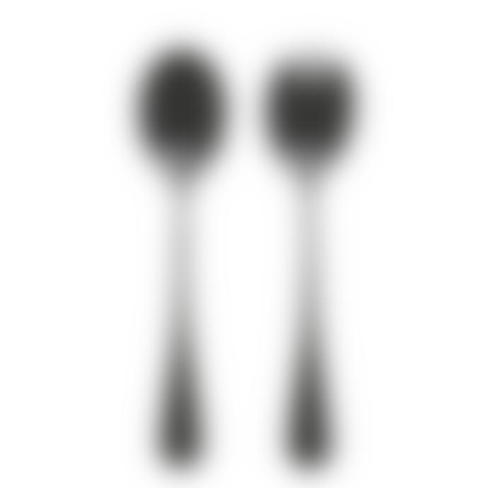 Nordal Black Salad Server Cutlery Set