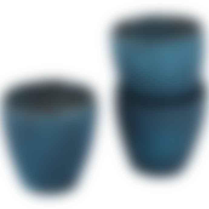 Grand Illusions Ribbed Beaker Votive - Matt Teal (Small)