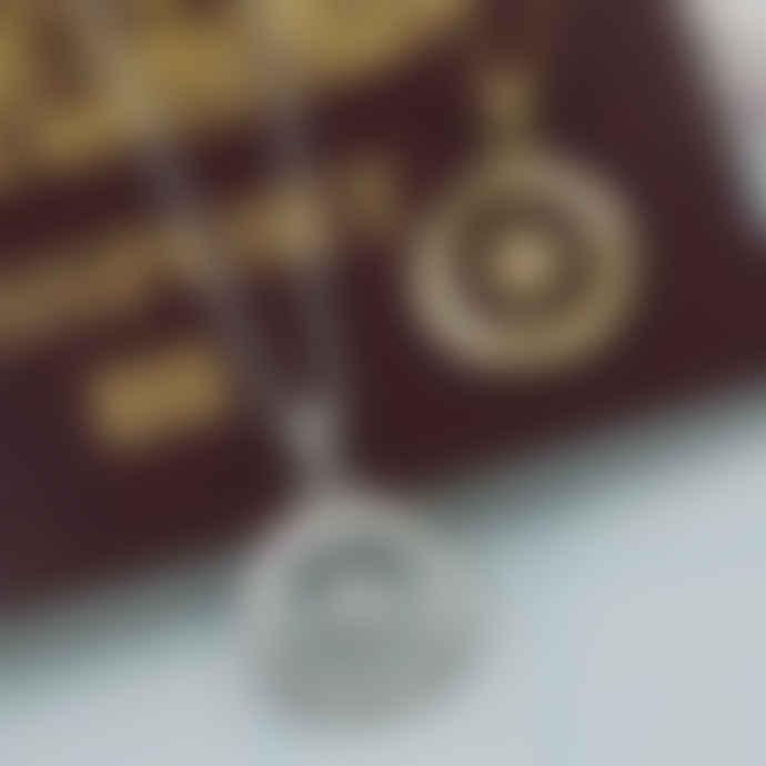 Christin Ranger Silver Love's Compass Necklace