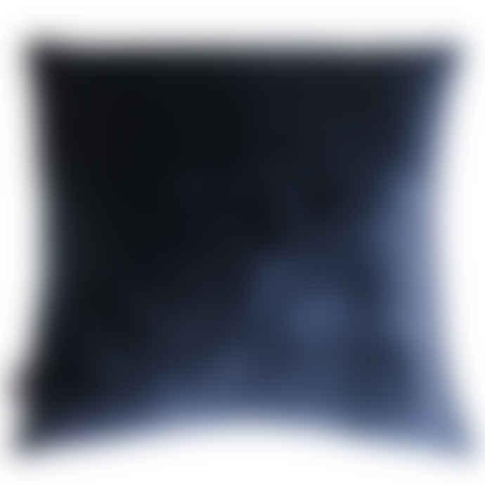 Lauraloves Blue Green Silk and Velvet Evelyn Leaf Cushion