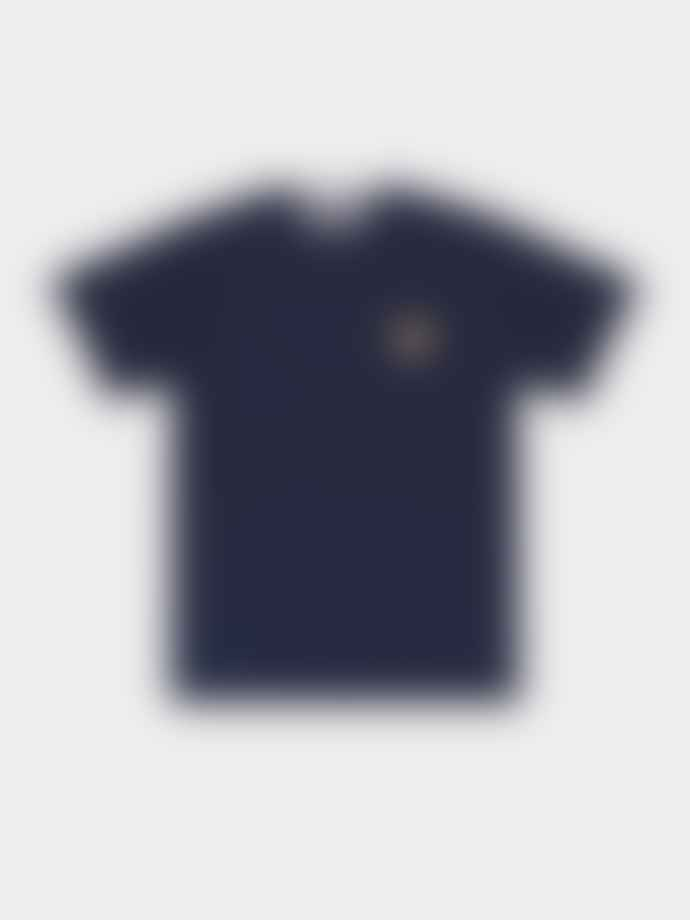 Comme Des Garcons Play Navy PLAY T-shirt With Gold Heart