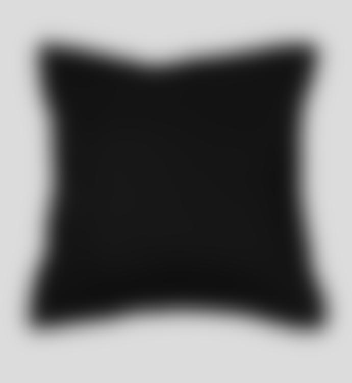 Wallace Cotton Plush Velvet Large Square Pillowcase Black