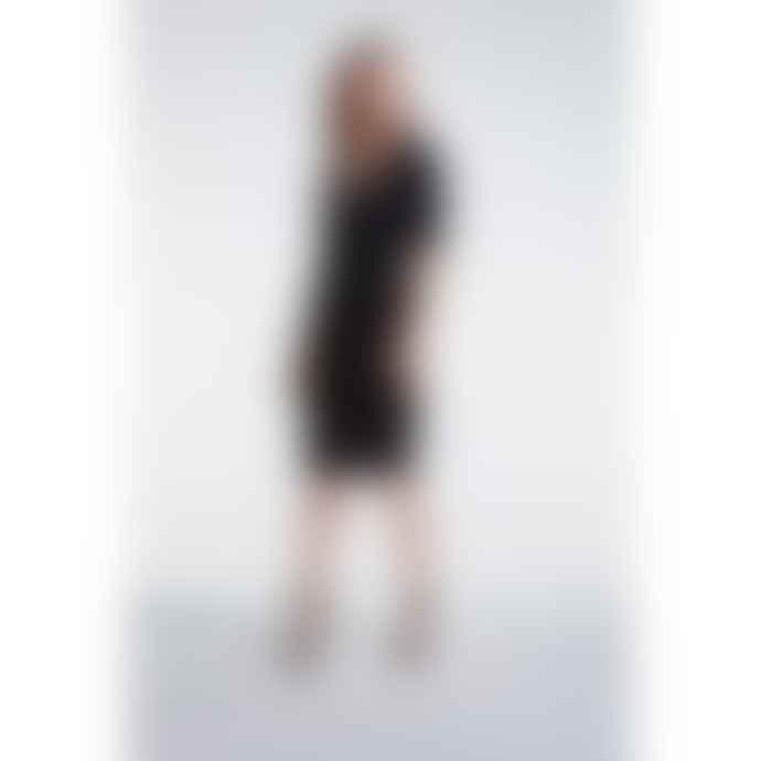 Set Fashion Black Sparkle V Neck Dress