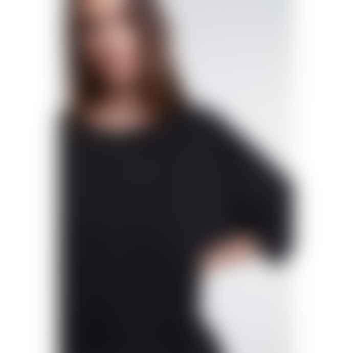 Set Fashion Oversized Black Sparkle Top