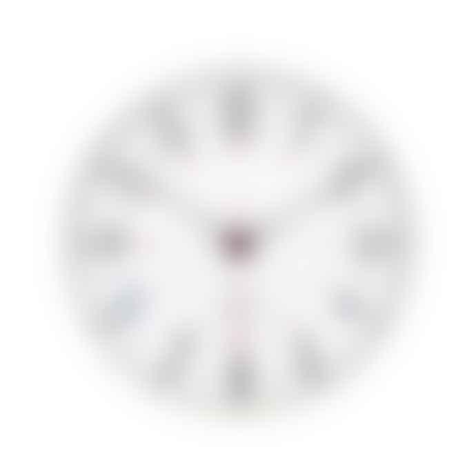 Juul at Home Retro Metal Wall Clock Cream