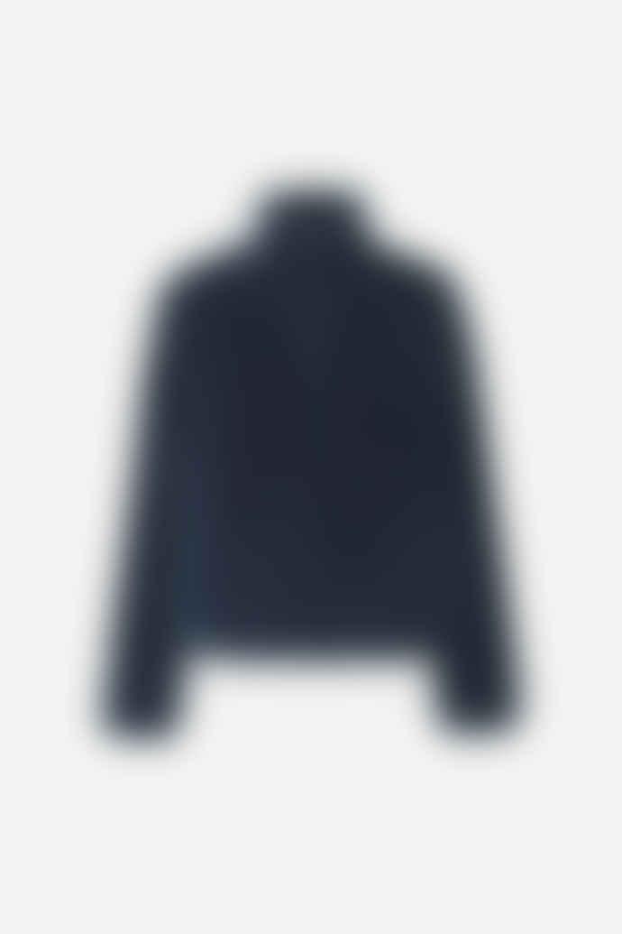 SamsoeSamsoe Samsoe & Samsoe Loulou navy faux fur bomber jacket
