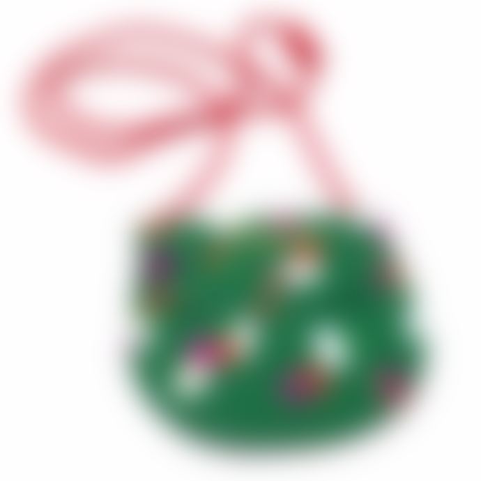 Ark Green / Pink Tutti Frutti leather pocket money purse