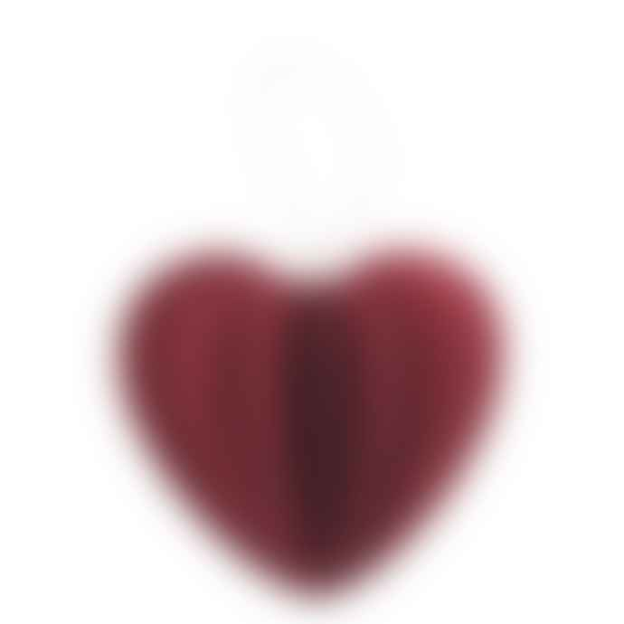 Lovi Birch Plywood Dark Red Heart 3D Puzzle