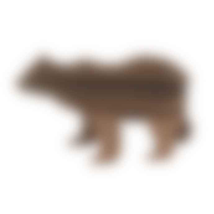 Lovi Birch Plywood Brown Bear 3D Puzzle