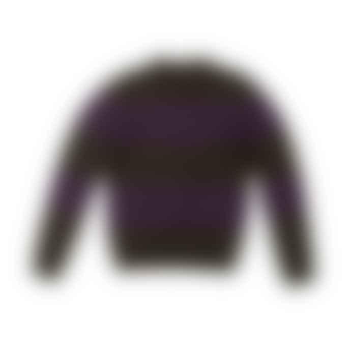 Eat Dust Knit Stripe Eco Wool Khaki Purple
