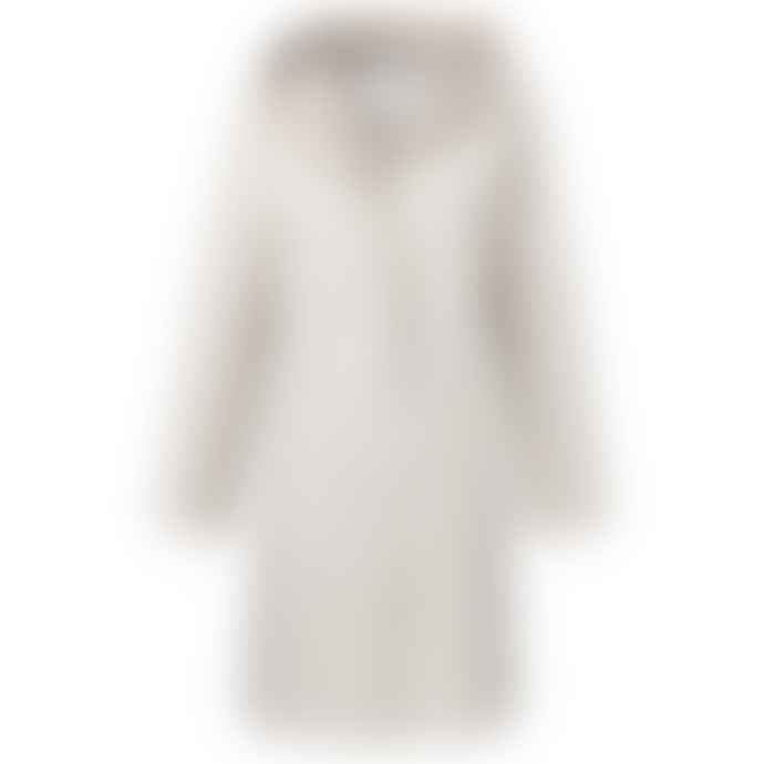 Yaya Beige Polyester Hooded Coat