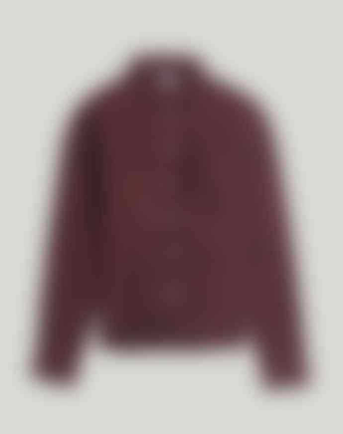 Bellfield Suomi Long Sleeve Flannel Shirt Burgundy