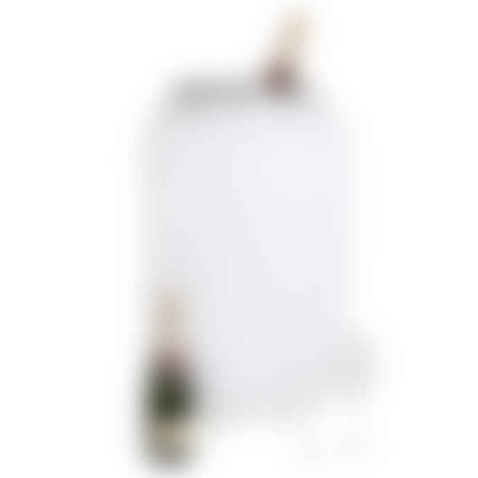 Nikki.Amsterdam Large White Plastic and Leather The Lampion Wine Cooler and Speakers