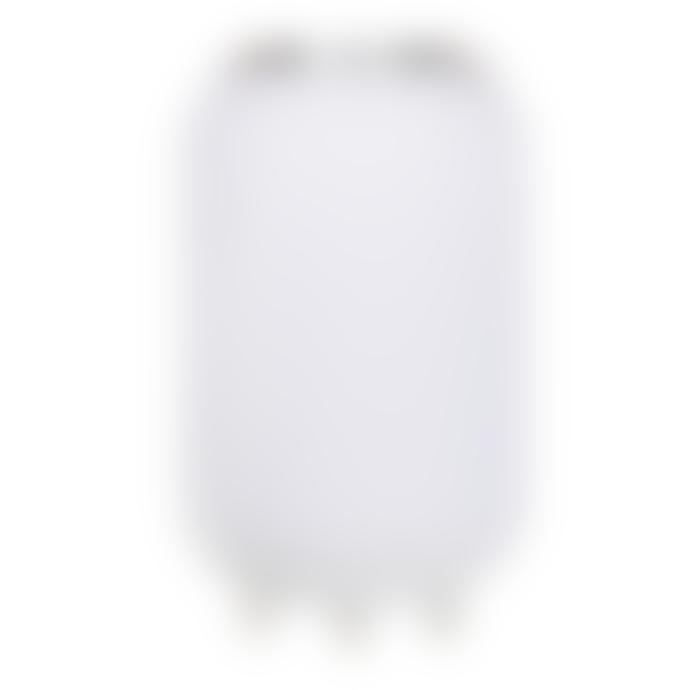 Nikki.Amsterdam Medium White Plastic and Leather The Lampion Wine Cooler and Speakers