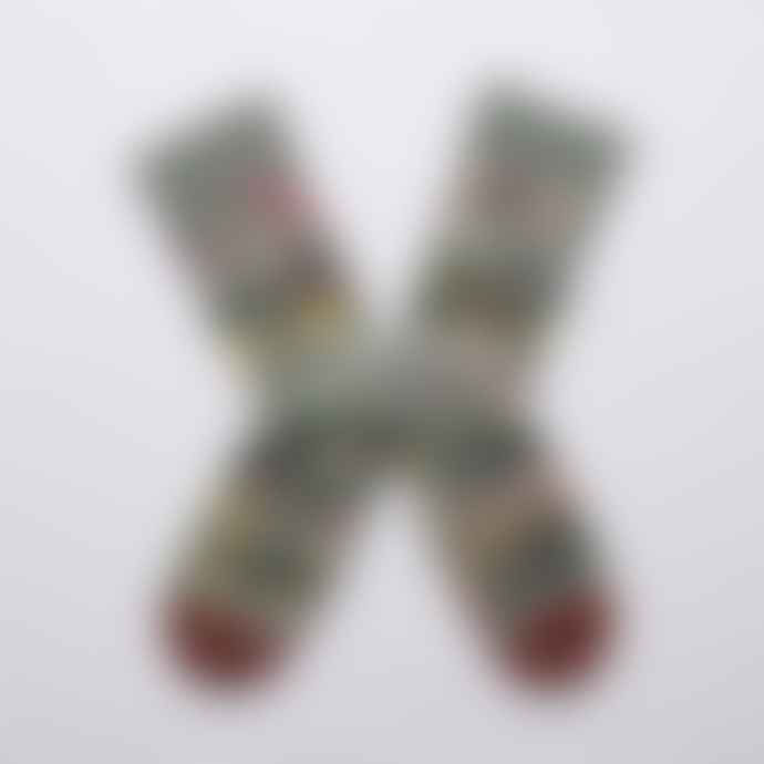 Bonne Maison Cedar Green Flower Socks