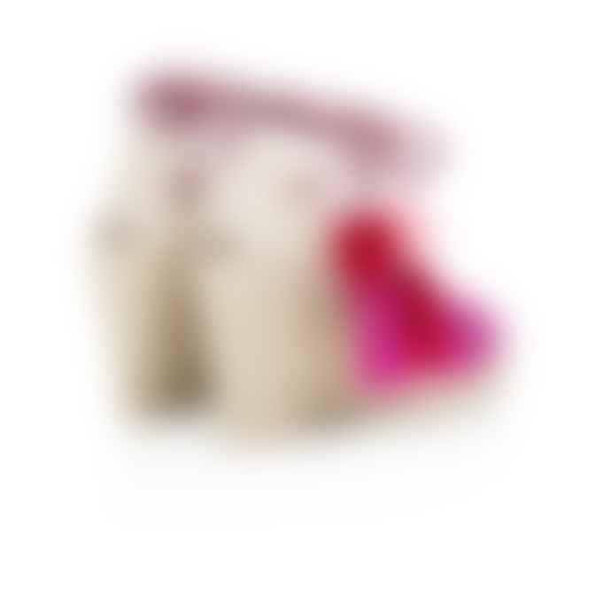 Air & Grace Fuchsia Shimmie Espadrille Wedges