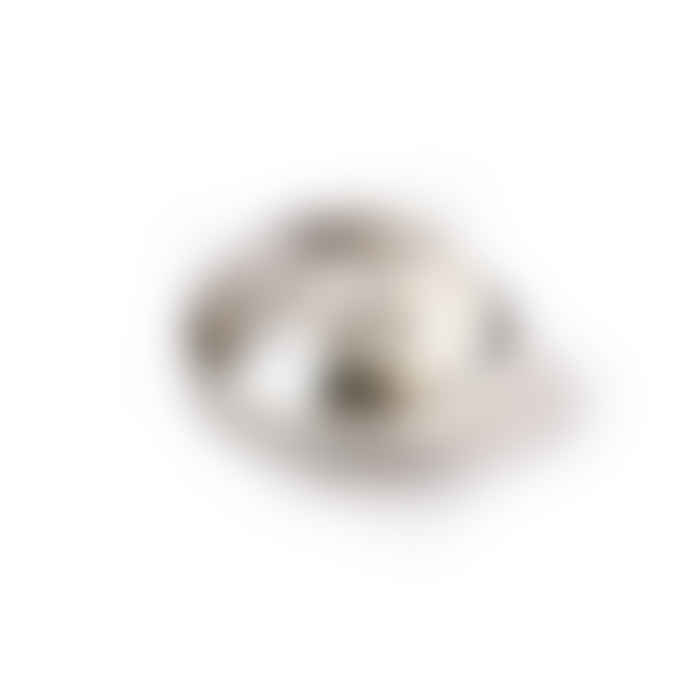 HKliving Crystal Glass Candle Holder Grey Round