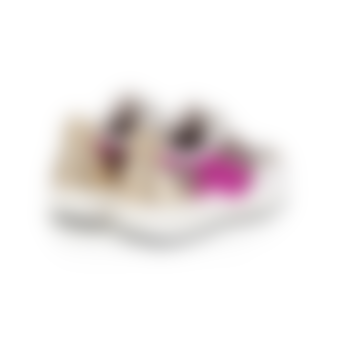 Air & Grace Hot Pink and Gold Leather Cosmic Gold Glitter Trainers Shoe