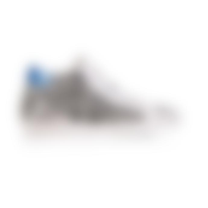Air & Grace Blue Metallic Leather Zebra Print High Top Alto Shoe