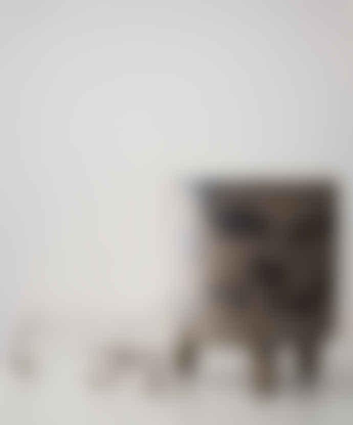 Erika Petersdotter Small grey and black flowerpot in Stank series