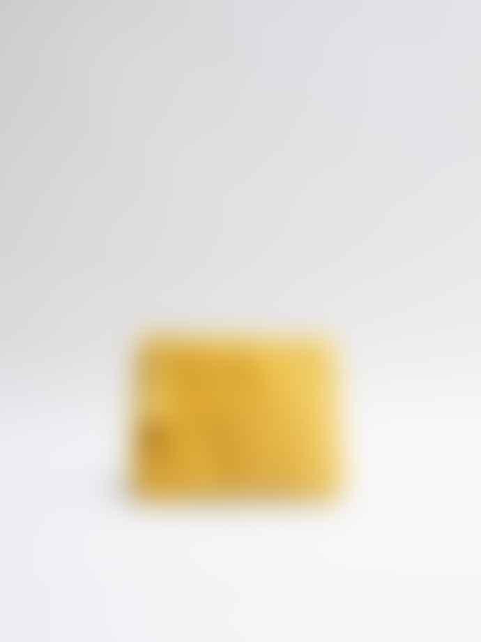Chalk UK Small Mustard velvet Annie Pouch with tassel trim