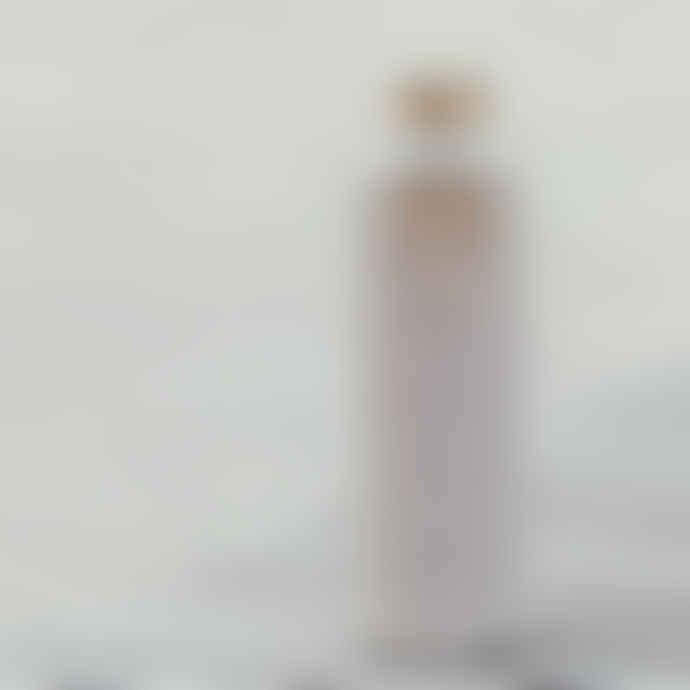 Equa Bottle Tough Glass 750ml Mismatch Beige Faux Leather Cover