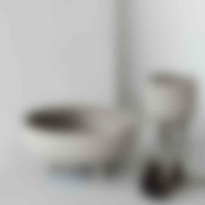Kristina Dam 12 x 16cm Grey Terracotta Small Bowl
