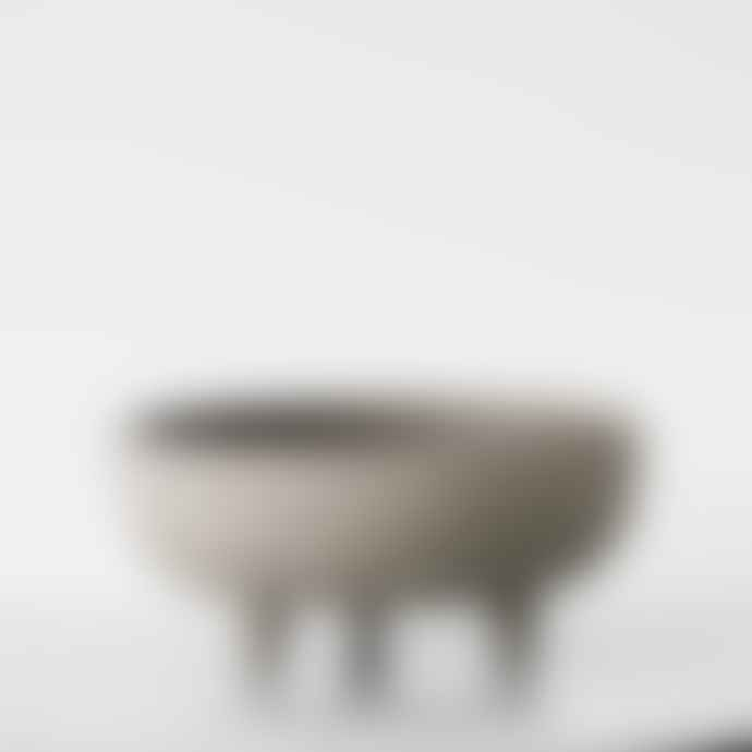 Kristina Dam 24 x 11cm Grey Terracotta Medium Bowl